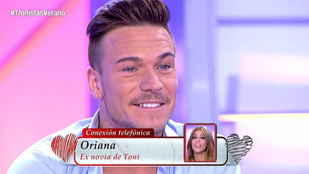 """Oriana, a Tony: """"Calladito, mejor"""""""