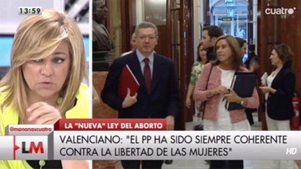 """Elena Valenciano, sobre la ley del aborto: """"Es el discurso prehistórico de la derecha que va contra la libertad de las mujeres"""""""