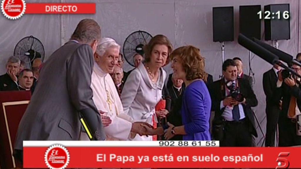 El recibimiento del Papa