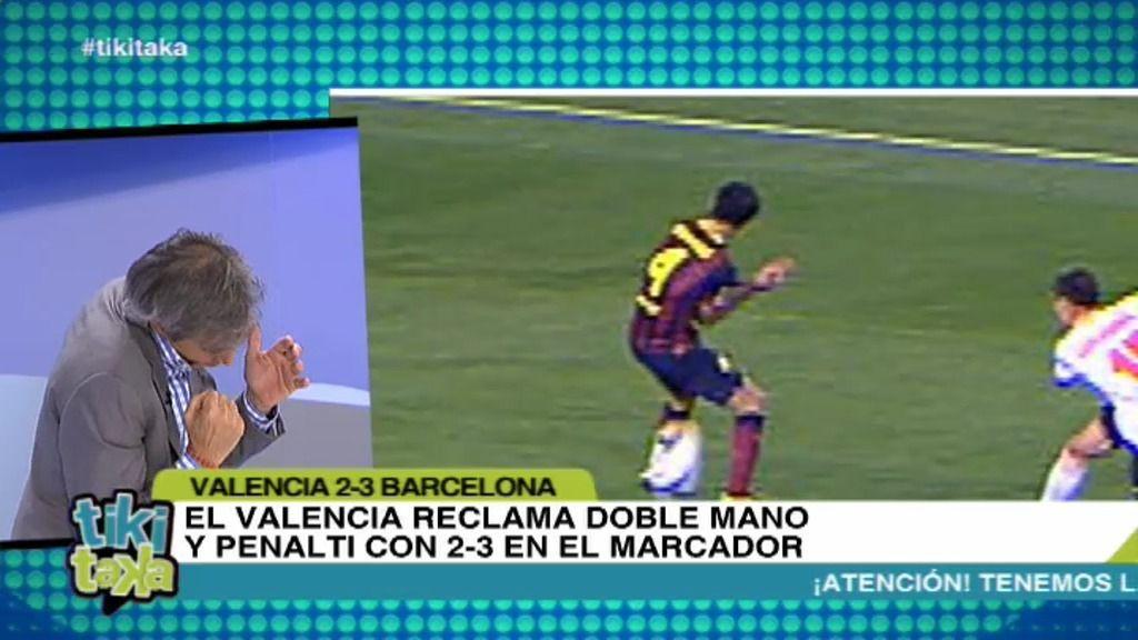 ¿Gol ilegal del Valencia? ¿Doble penalti del Barcelona por mano?