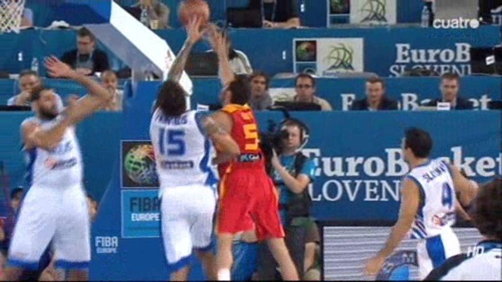 Rudy tira de España ante Grecia