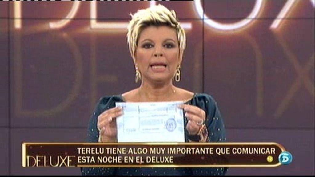Terelu contesta con un documento judicial a los rumores sobre la sentencia contra Pipi