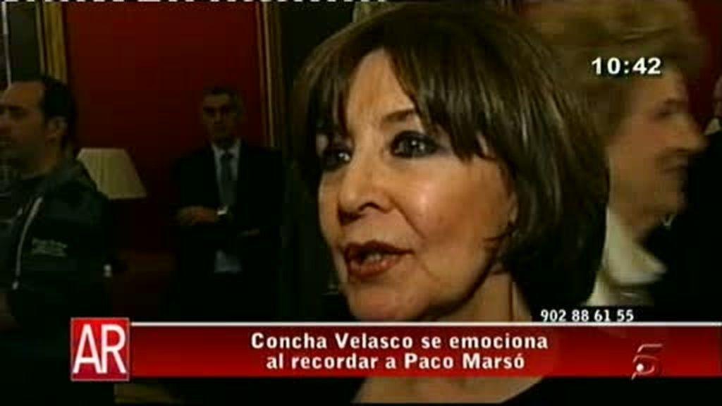 Concha Velasco, emocionada