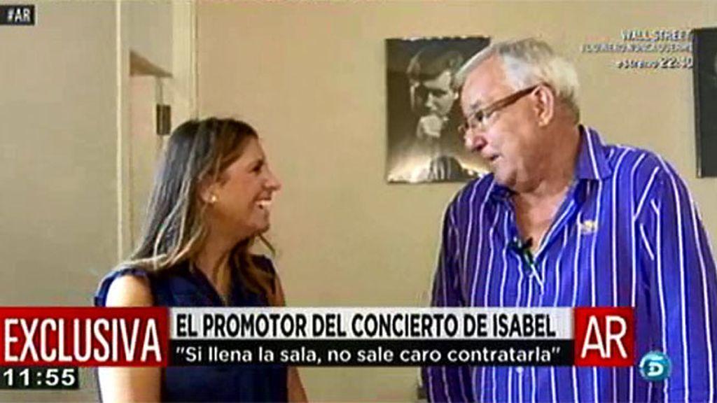 El promotor del concierto de Isabel Pantoja en Zaragoza cree se venderán todas las entradas