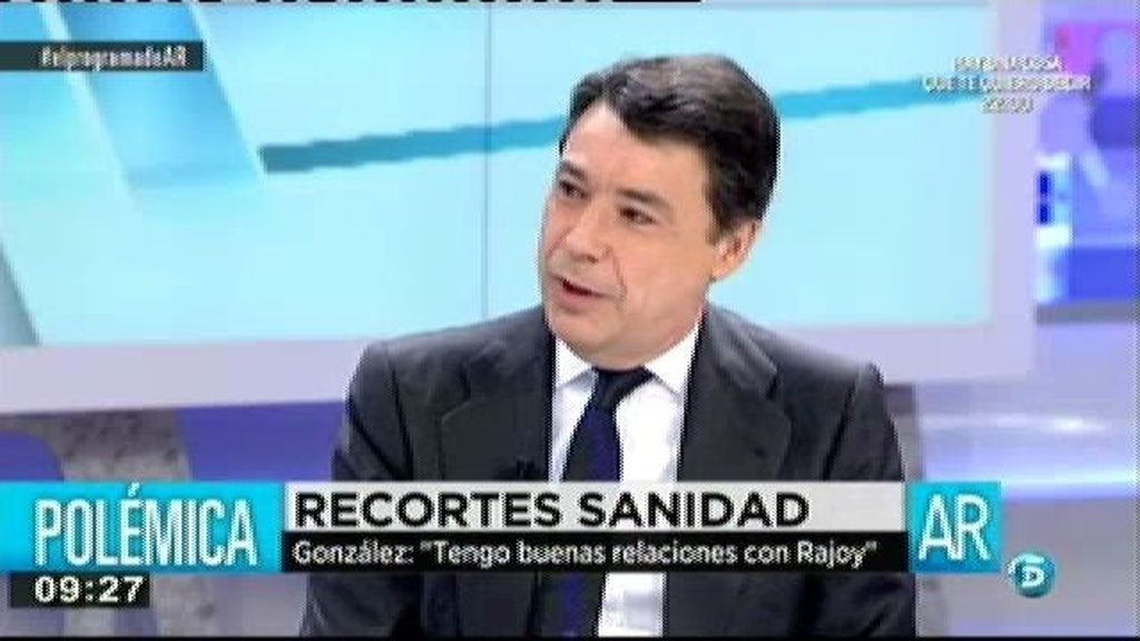 """Ignacio González: """"Que yo sea del PP no significa que no pueda haber discrepancias a la hora de interpretar el marco legal de competencias"""""""