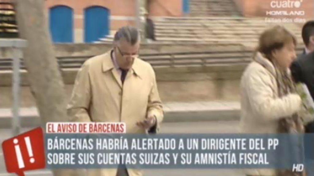 Bárcenas alertó hace seis meses al PP de que tenía cuentas en Suiza