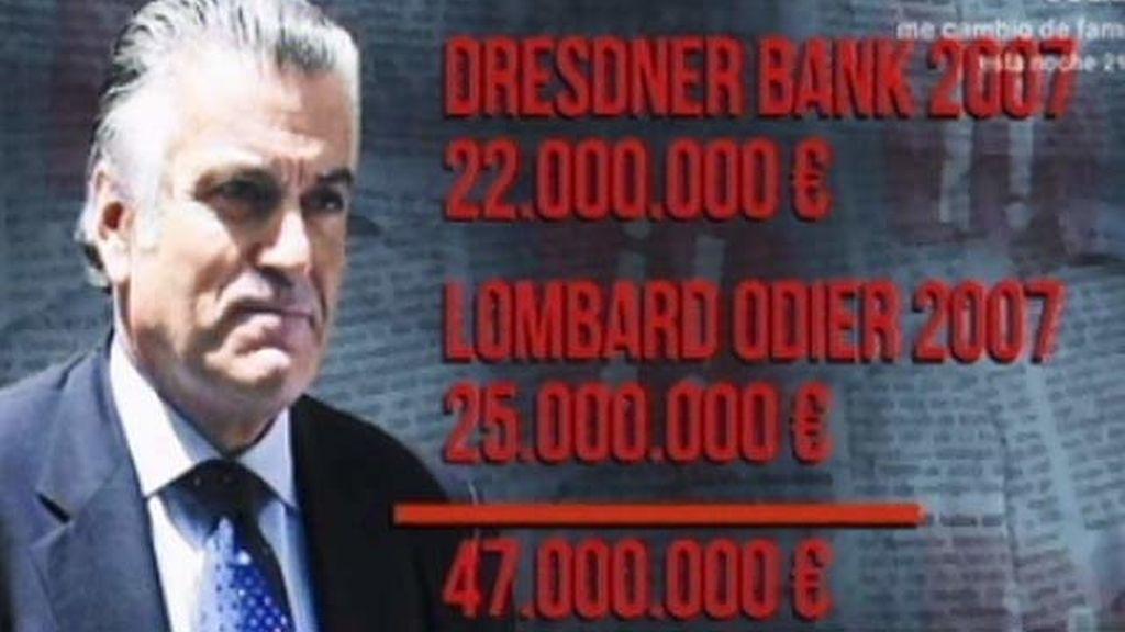 Luis Bárcenas llegó a tener más de 47 millones de euros en Suiza