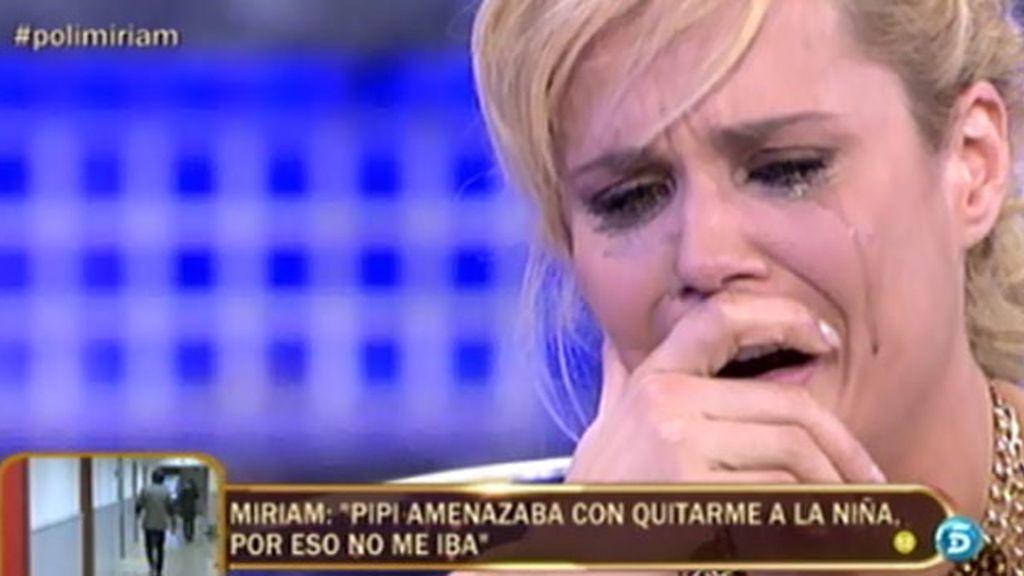 Miriam estalla ante las insinuaciones de Pipi