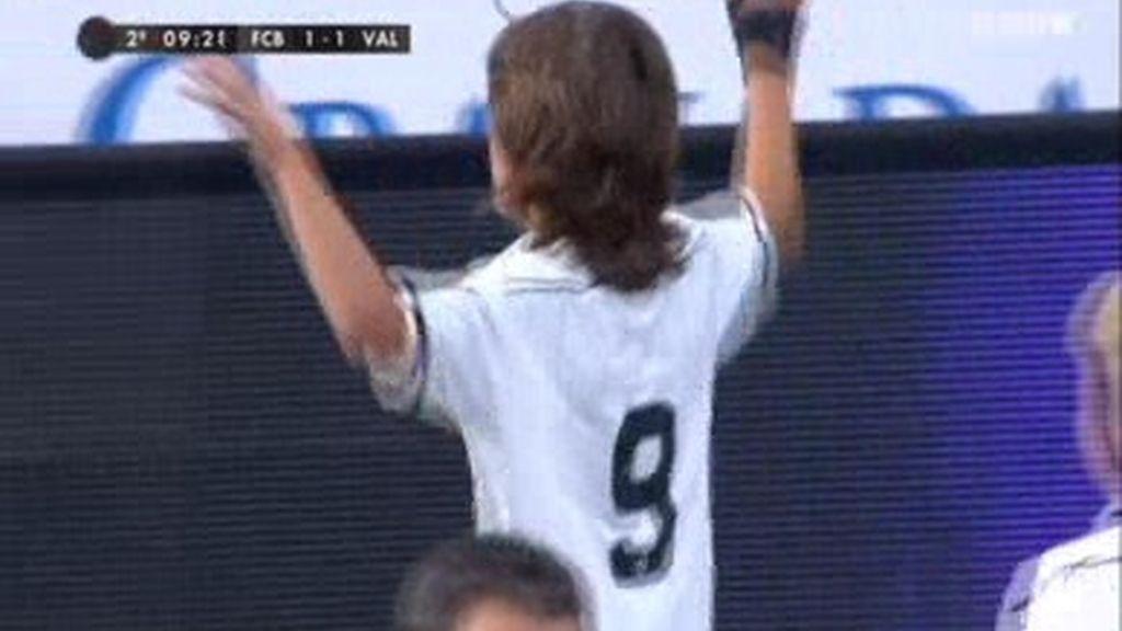 Gol: Barcelona 1-1 Valencia (min.29)