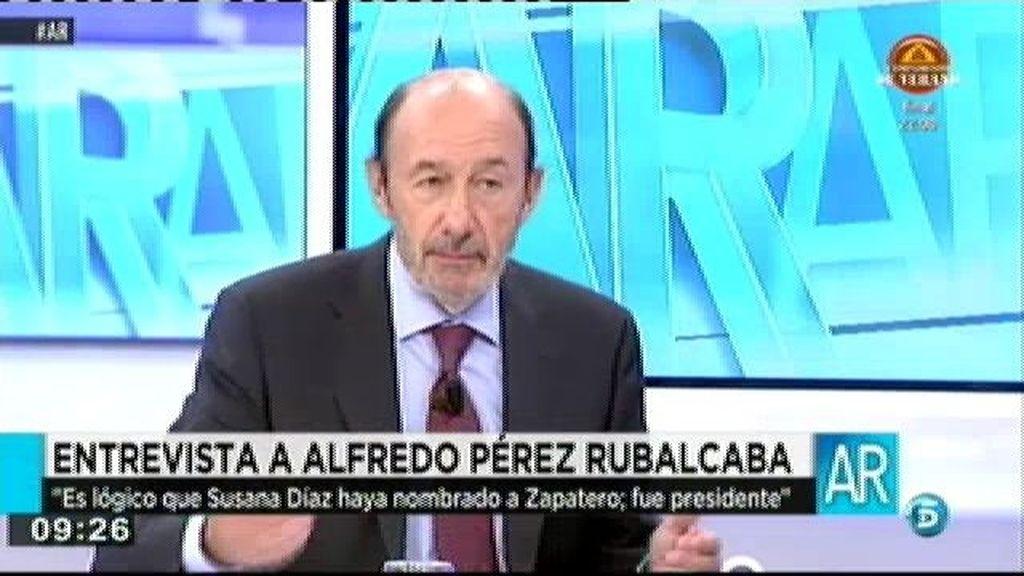 """Rubalcaba: """"La corrupción me parece algo repugnante"""""""