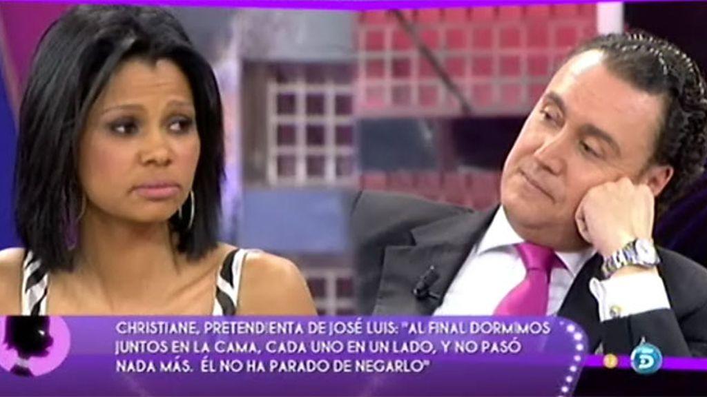 """José Luis, a Christiane: """"Esto es un poco falso testimonio"""""""