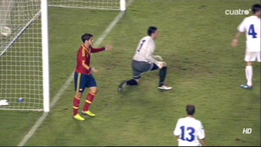 Gol anulado a Morata por empujar al defensa