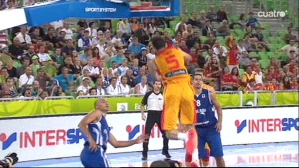 Sergio Rodríguez y… ¡Alley-oooop de Rudy!