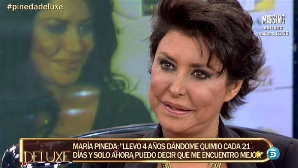 """María Pineda: """"Ojalá pudiera dejar la quimioterapia, pero es imposible"""""""