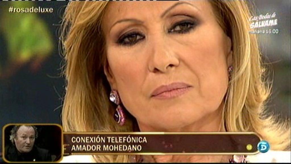 """Amador, a Rosa: """"¡Cállate que hablas mucho. Ahora voy a hablar yo!"""""""