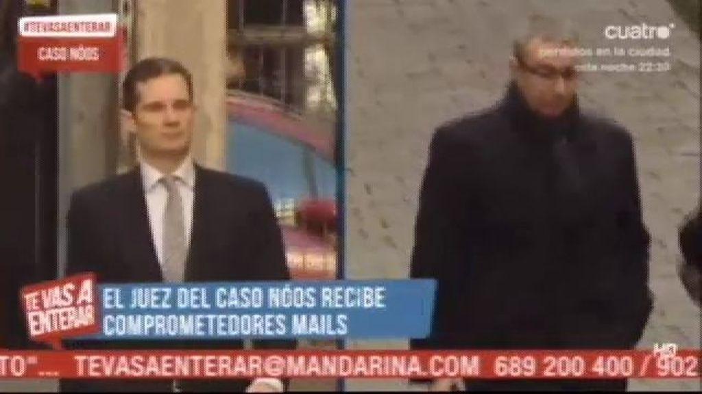 El juez del caso 'Noos' recibe comprometedores mails sobre Urdangarín