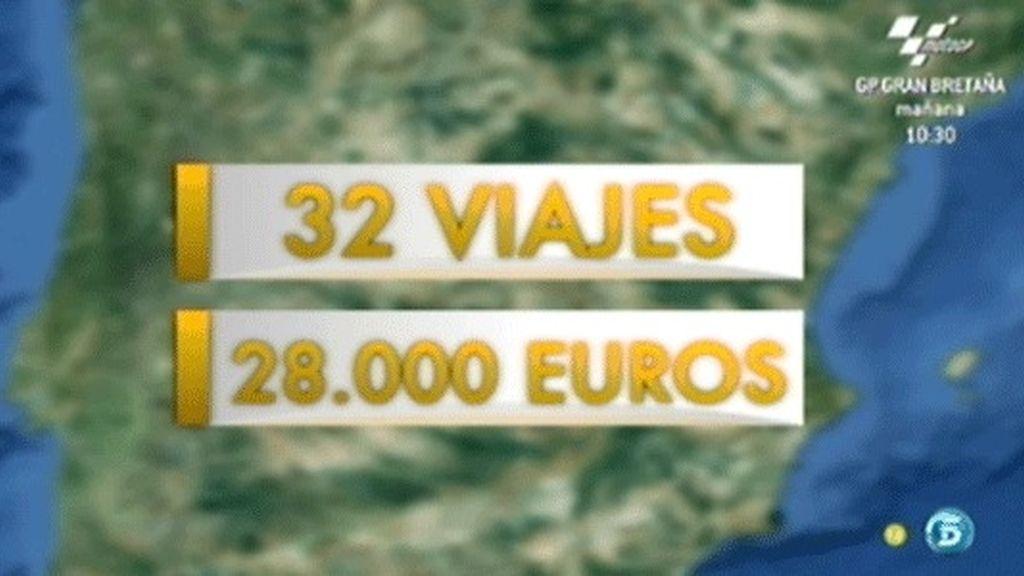 Dívar realizó 32 viajes por 28.000 euros