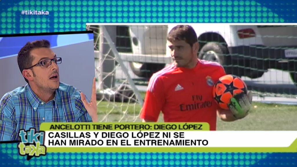 Casillas y Diego López ni se han mirado en el entrenamiento según las  imágenes