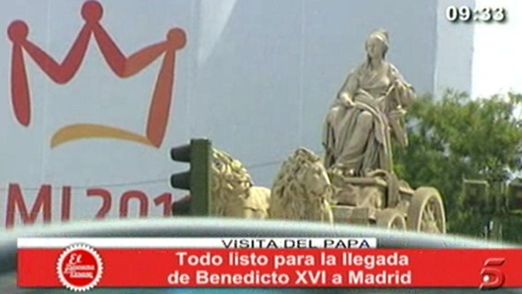 Madrid, preparado para el Papa