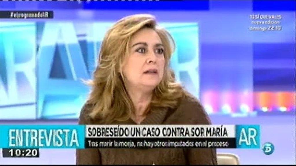 """Luisa, tras la muerte de Sor María: """"Hay que seguir"""""""