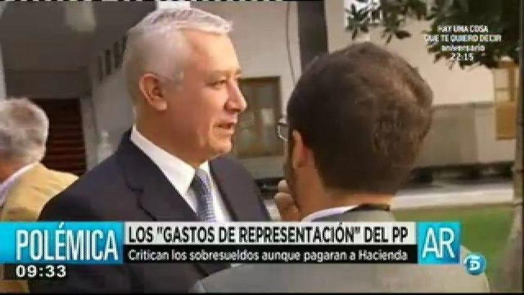 Javier Arenas admite haber cobrado sobresueldos