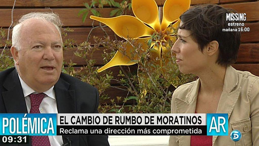 """Moratinos: """"El partido necesita un cambio importante"""""""