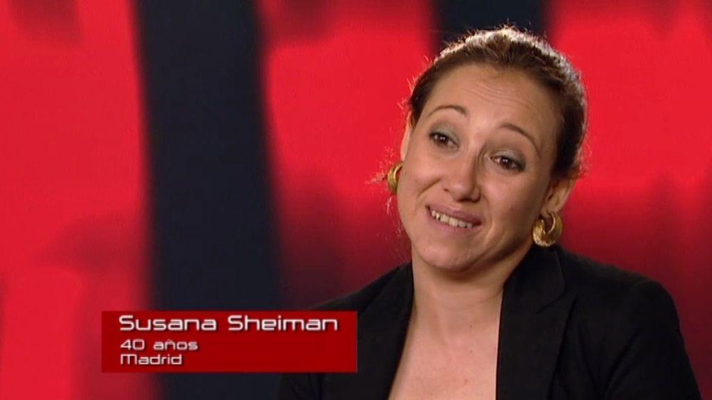 Susana, una cantante profesional que conoce a todo el equipo de 'La Voz'