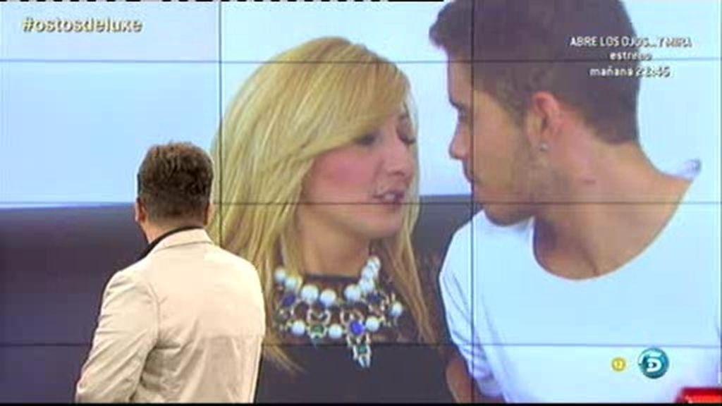 El beso de José Fernando y su novia ante las cámaras del Deluxe