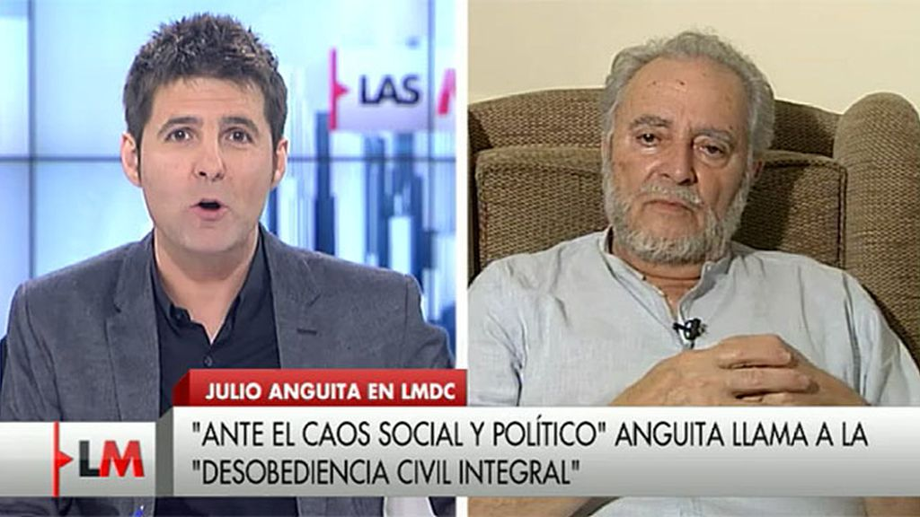 """Julio Anguita: """"Planteo que llegará un momento en el que haya que ir a la desobediencia civil"""""""