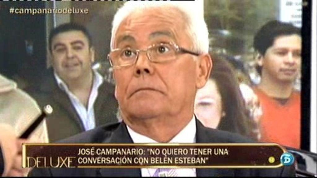 """José Campanario: """"No quiero tener una conversación con Belén Esteban"""""""
