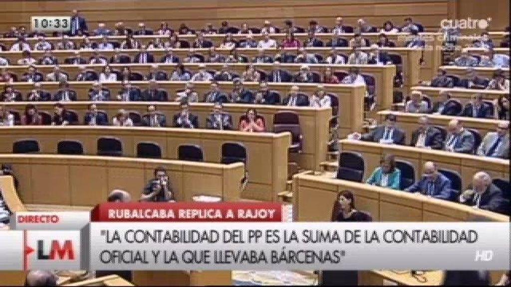 """Rubalcaba a Rajoy: """"Sus sms con Bárcenas son los mensajes de un socio a otro"""""""