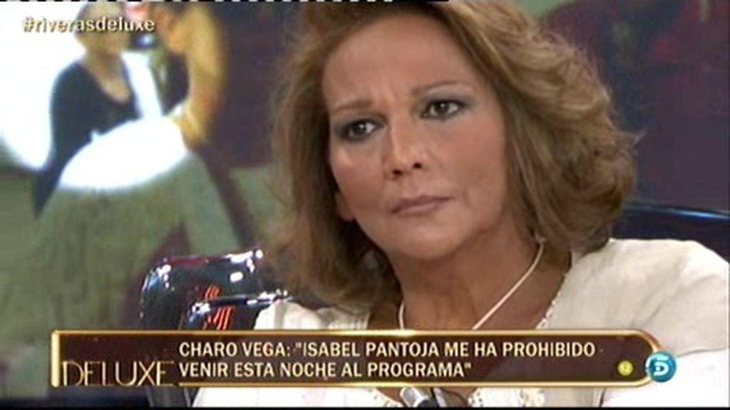 "Charo Vega: ""Isabel Pantoja me ha prohibido venir esta noche al Deluxe"""