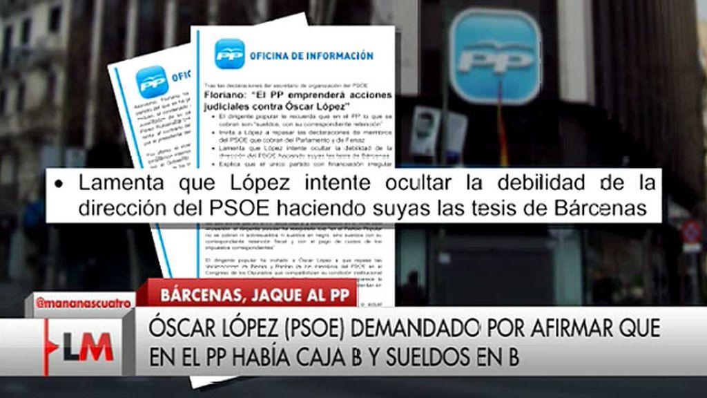 """Floriano: """"El PP emprenderá acciones judiciales contra Óscar López"""""""