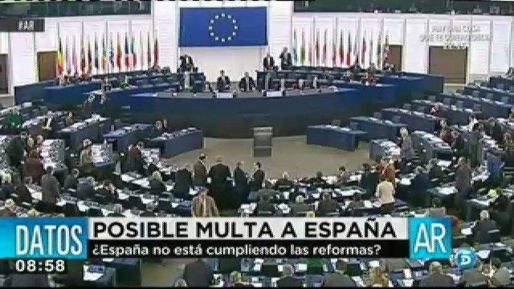 La UE podía multar a España por los grandes desequilibrios de nuestra economía