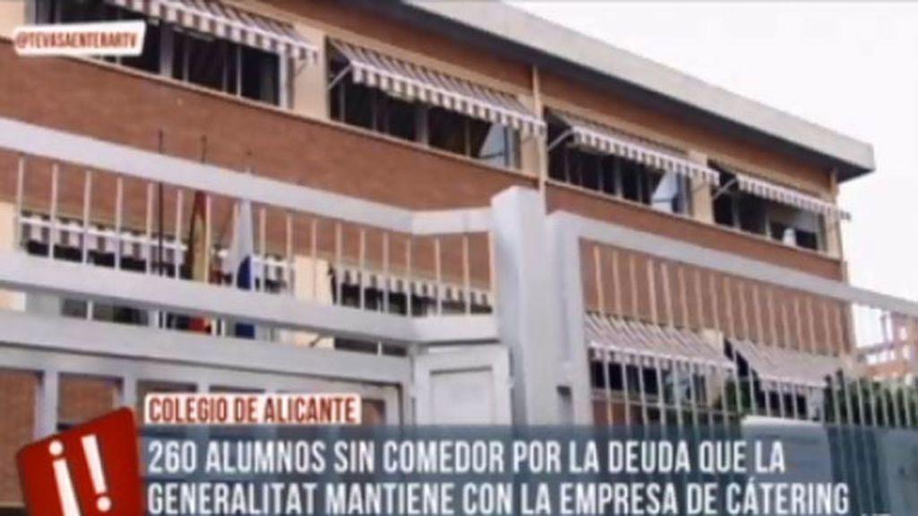 260 alumnos sin comedor por la deuda que la Generalitat mantiene con el catering