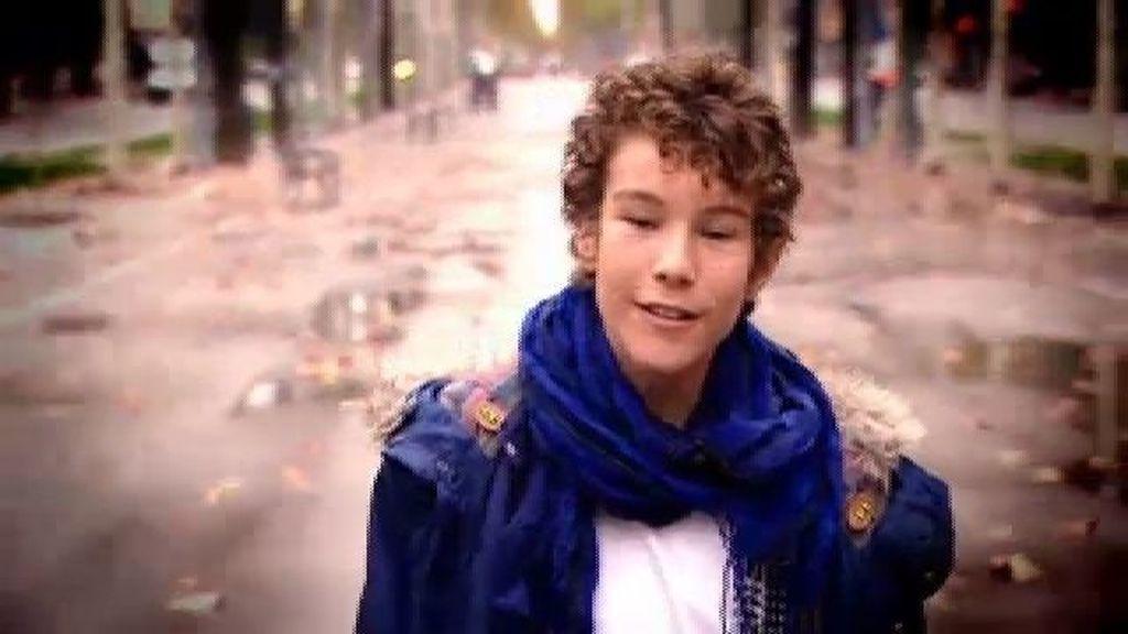 Pablo Monfort, 13 años, cantante