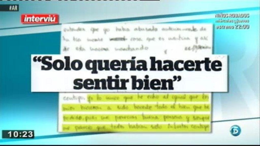"""Juan Carlos Alfaro, a Almudena: """"Sólo quería hacerte sentir bien"""""""