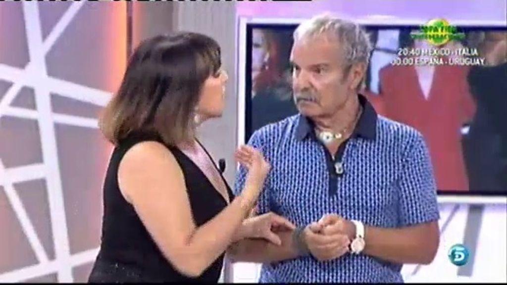 Mariñas y Loles León discuten en plató