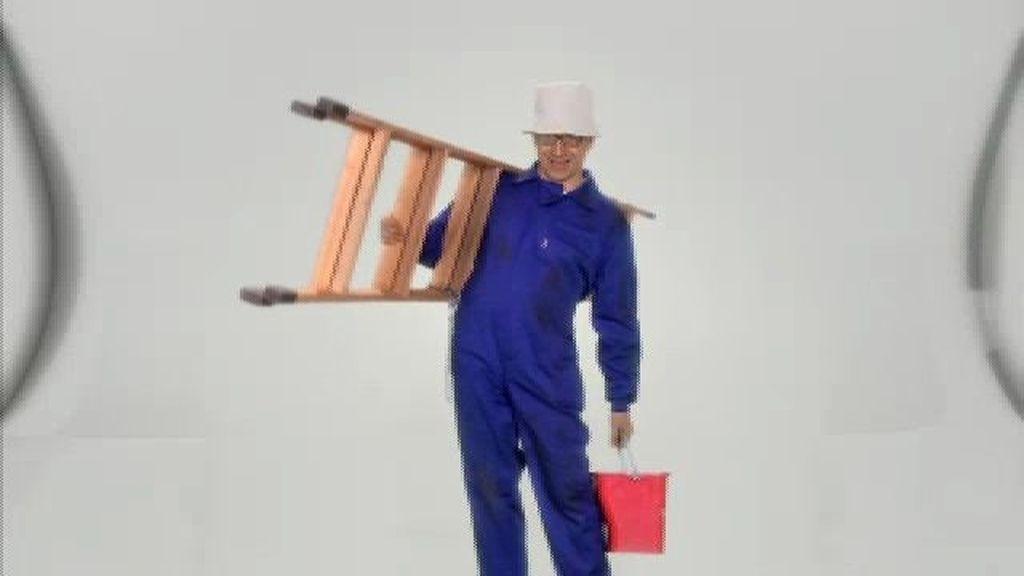 Pintor en la escalera for Escalera pintor
