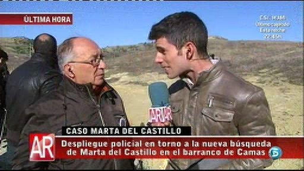 """El abuelo de Marta: """"Es una noticia agradable saber que el juez ha ordenado la búsqueda"""""""