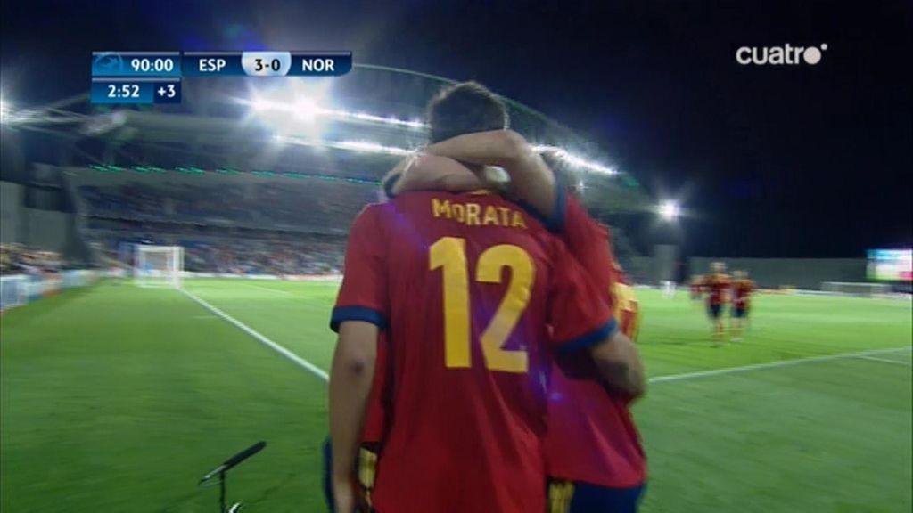 Gol: España 3 - 0 Noruega (min.93)