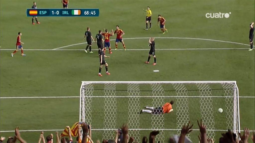Gol: España 1-0 Irlanda (min. 68)