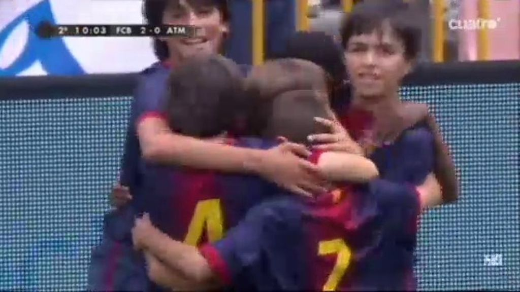 Gol: Barcelona 2 - 0 Atlético de Madrid