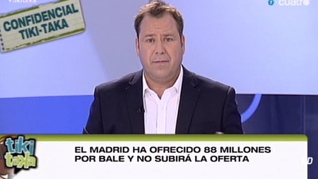 El Madrid no subirá de 88 millones por Bale