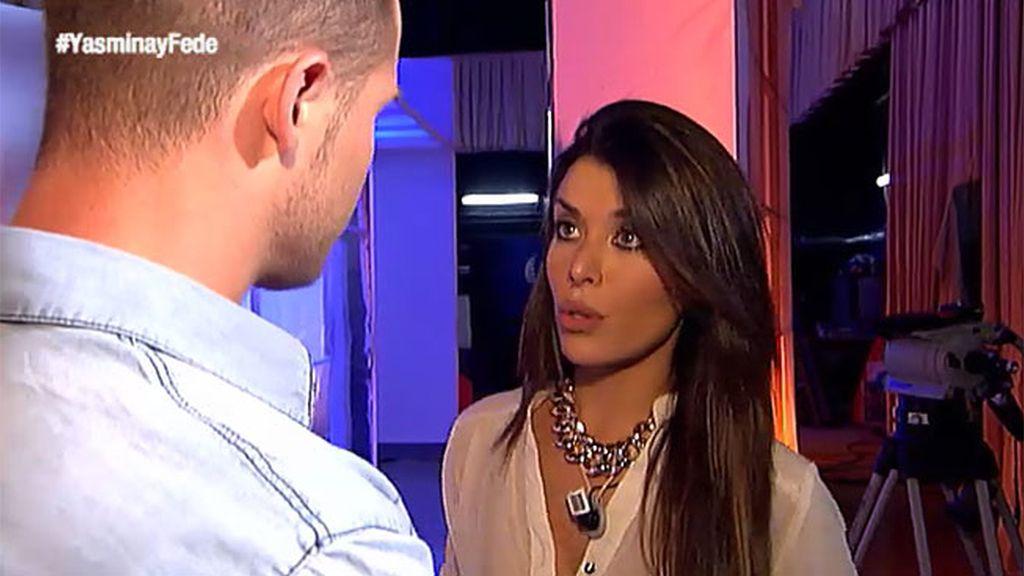 """Yasmina, a Antonio: """"No me has contado todo"""""""
