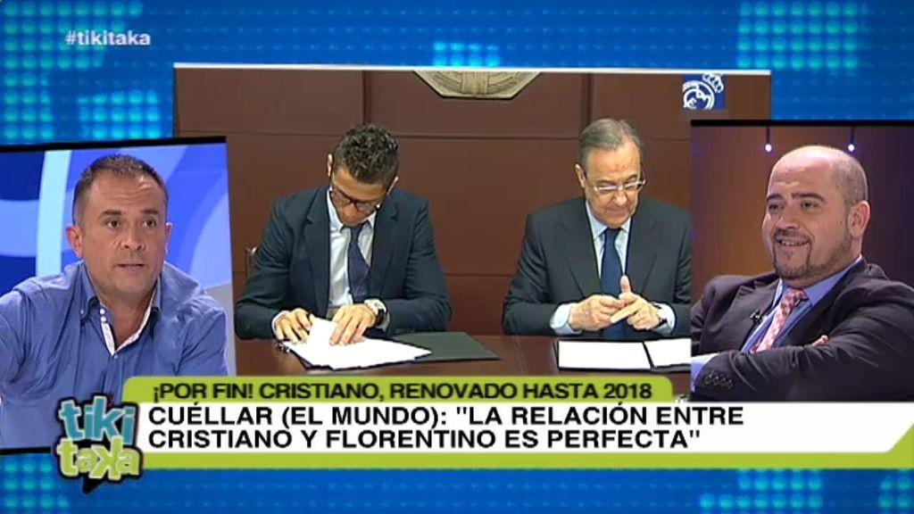 """Cuéllar: """"La relación entre Cristiano Ronaldo y Florentino Pérez es perfecta"""""""