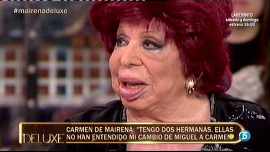 """Carmen de Mairena: """"Lo he pasado muy mal, me caí y me rompí el fémur"""""""