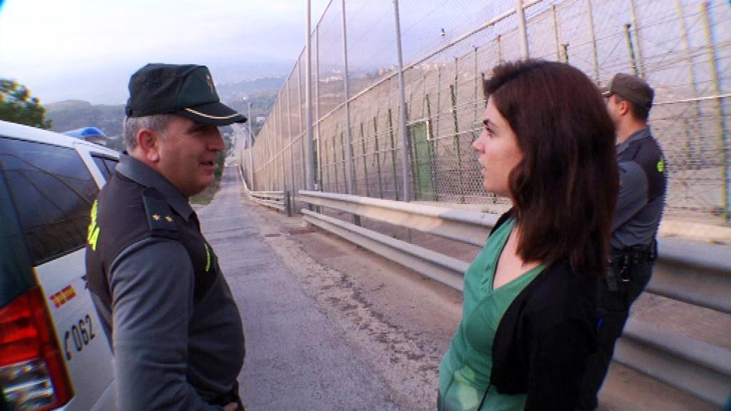 Samanta Villar entra en la valla de Melilla