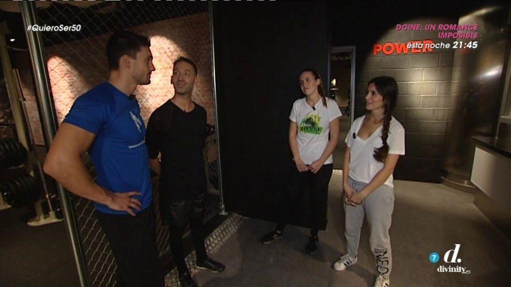 Juanjo Martín pone a prueba a las chicas del equipo de Cristo