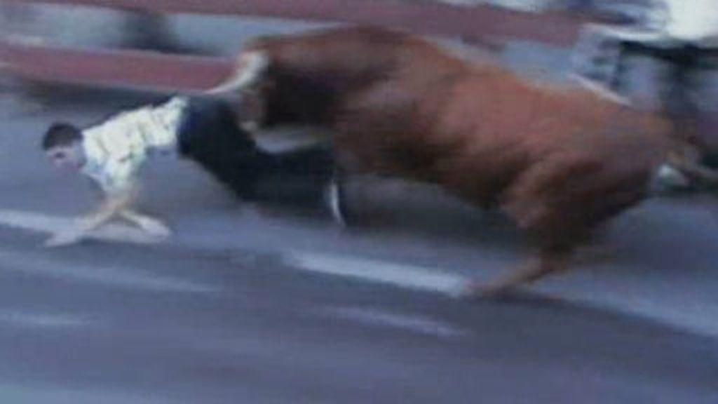 Fuerte cogida de toro en Leganés